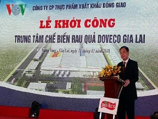 Khởi công Dự án chế biến rau củ quả lớn nhất Việt Nam
