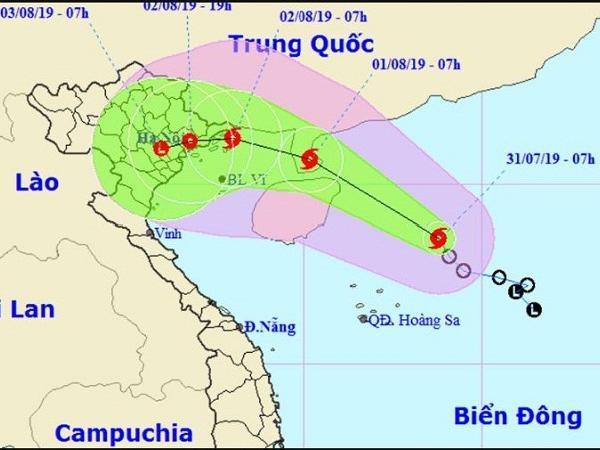 Áp thấp nhiệt đới đã mạnh lên thành bão số 3 Wipha, giật cấp 10