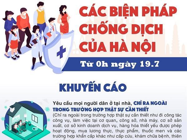 Từ hôm nay, người Hà Nội phải làm gì để tuân thủ quy định phòng chống