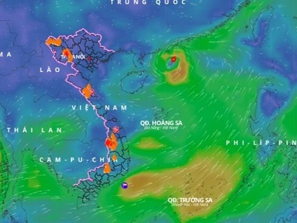 Áp thấp nhiệt đới đã mạnh lên thành bão số 3 Cempaka