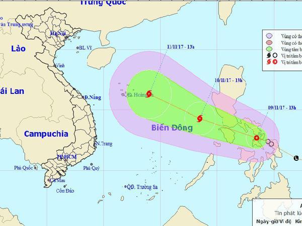 Áp thấp nhiệt đới khả năng mạnh lên thành bão sắp vào Biển Đông
