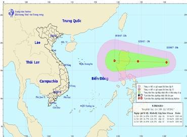 Lại xuất hiện áp thấp nhiệt đới mạnh cấp 7 gần Biển Đông